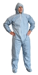 Cordova Flame Resistant Disposable Coverall, Hood, Boots, Size Large, Defender, FRC400