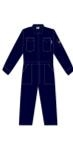 Cordova Fire Rated Navy Coveralls, Leg Zips, Size 56, FZ105NV