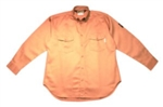 Cordova Fire Rated Work Shirt, Khaki, Large, FZ200