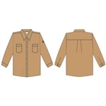 Cordova Fire Rated Work Shirt, Khaki, Medium, FZ200KH