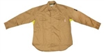 Cordova Fire Rated Work Shirt, Vented, Khaki, Large, FZ210
