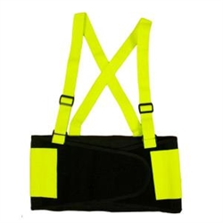 Cordova Back Support Belt, Hi-Vis Lime, SB100