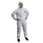 Cordova C-MAX White Disposable Coveralls with Hood SMS300