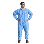 Cordova C-MAX Blue Disposable Coveralls with Elastic Wrists and Ankles SMS900