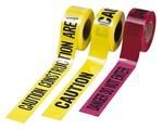 Cordova Safety Barricade Tape, 2.5 mil (Caution, Danger), T25101
