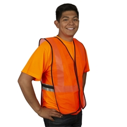 Cordova Economy Safety Vest, Orange, Mesh, V100