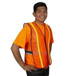 Cordova Mesh Safety Vest, 1 Inch Reflective Tape, Orange