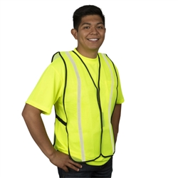 Cordova Safety Vest, Mesh, Reflective Tape, Lime, V111