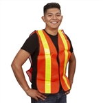 Cordova Mesh Safety Vest, 1 Inch Reflective Stripes, Orange or Lime