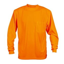 Cordova Long Sleeve Shirt, Orange, Non Rated, V140
