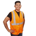 Cordova Class 2 Safety Vest, Orange Mesh, Velcro V210P
