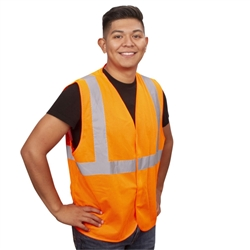Cordova Class 2 Safety Vest, Orange Mesh, V210P
