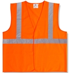 Cordova Type R Class 2 Solid Safety Vest, Orange or Lime