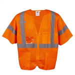 Cordova Class 3 Safety Vest, Orange, Zipper V3000