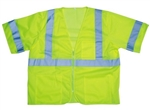 Cordova Class 3 Safety Vest, Lime, Mesh, Zipper V3001