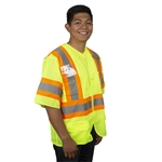 Cordova Class 3 Safety Vest, Hi-Vis Lime, Pockets V3201