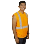 Cordova Class 2 Sleeveless T-Shirt, Orange or Lime