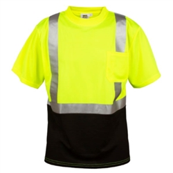Cordova Class 2 Mesh T-Shirt with Black Bottom, Lime