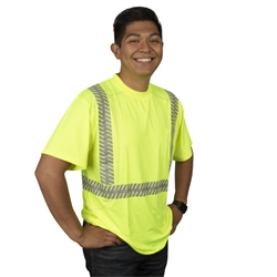 Cordova CorBrite Comfort Stretch Class 2 T-Shirt, Lime