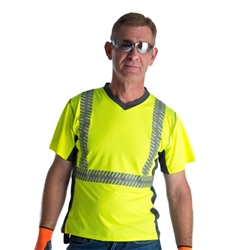 Cordova Class 2 Shirt, Lime, Segmented Tape V471