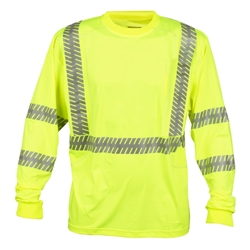 Cordova Class 3 Long Sleeve T-Shirt, Lime Cor-Brite V561