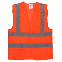 Cordova Class 2 5-Point Breakaway Mesh Safety Vest, Orange