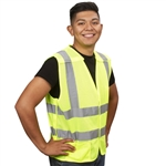 Cordova Class 2 5-Point Breakaway Mesh Safety Vest, Lime or Orange