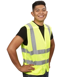 Cordova Class 2 5-Point Breakaway Mesh Safety Vest, Lime