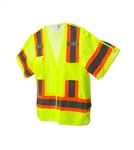 Cordova Type R Class 3 Limited Flame Resistant 5 Pt Break Away Mesh Vest, Lime