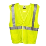Flame Resistant, Class 2, Hi-Vis Modacrylic Mesh Safety Vest, Lime