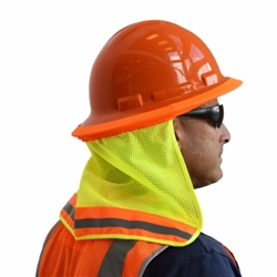 Cordova Hi-Vis Hard Hat Neck Shade, Lime, VNS101