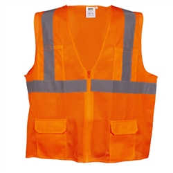 Cordova Class 2 Mesh Surveyor's Safety Vest, Orange