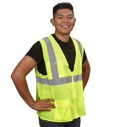 Cordova Class 2 Surveyor's Safety Vest, Mesh Lime, VS271P