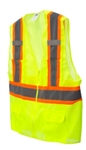 Cordova Class 2 Safety Vest, Pockets, Lime VS2723P