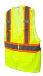 Cordova Class 2 Safety Vest, Pockets, Lime, VS2723P