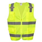 Cordova Class 2 Safety Vest, Hi-Vis Lime, Pockets VS281P