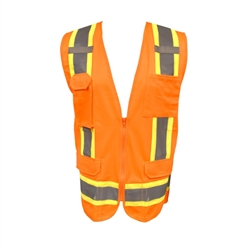 Cordova Class 2 Surveyor's Vest, Orange Cor Brite, VS285