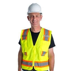 Cordova Class 2 Surveyors Vest, Lime Cor Brite, VS286