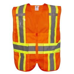 Cordova Class 2 Expandable Vest, Orange or Lime