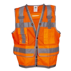 Cordova Class 2 Surveyor Vest, Orange, Pockets VS295