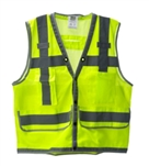 Cordova Class 2 Heavy Duty Surveyor Vest, Lime