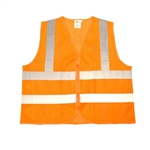 Cordova Class 2 Safety Vest, Zipper, Orange VZ240P