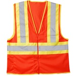 Cordova Class 2 Safety Vest, Orange, Zipper VZ250P