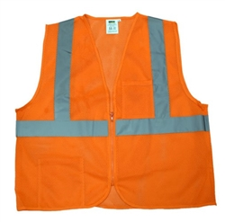Cordova Class 2 Safety Vest, Orange, Zipper VZ260P