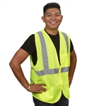 Cordova Class 2 Safety Vest, Lime, Zipper VZ261P
