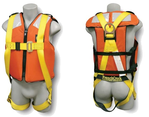 frenchcreek fall protection harness with life jacket (631lj)  life jacket harness