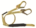 FallTech 8242Y3L Arc Flash Lanyard, 100% Tie Off with Rebar Hooks