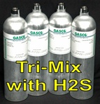 Gasco Calibration Gas, Tri-Mix 3 Gas Blend (LEL/O2/H2S)