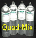 Gasco Calibration Gas, Quad Mix 4 Gas Mixture (LEL/O2/CO/H2S)