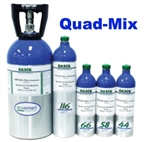 Gasco Calibration Gas, Quad-Mix 4 Gas Mixture (LEL/O2/CO/H2S), EcoSmart